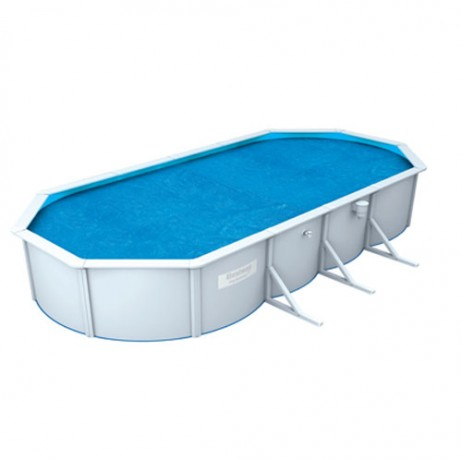 B che solaire pour piscine ovale steel wall for Bache chauffante solaire pour piscine