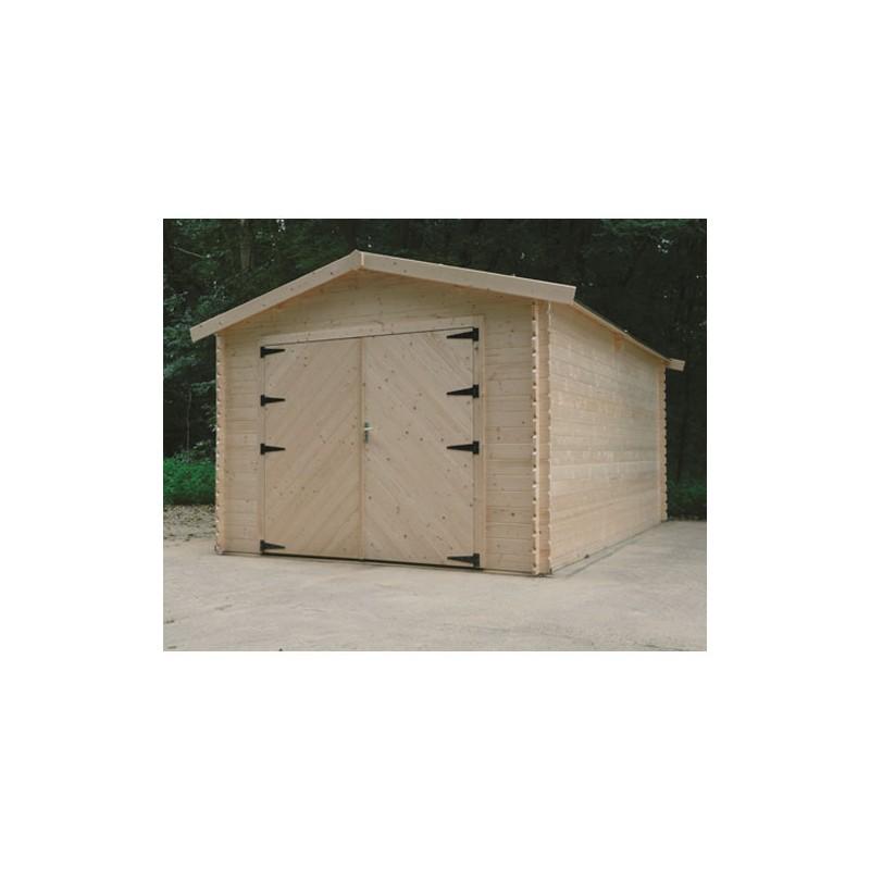 Garage En Bois 1620 M² Avec Double Porte
