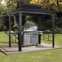 Tonnelle barbecue Messina 5,23 m²
