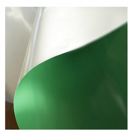 Film 250 microns vert blanc opaque