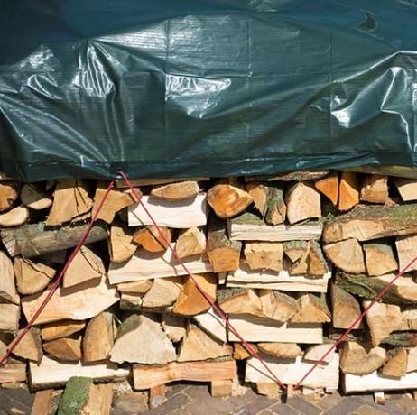 Bâche pour tas de bois