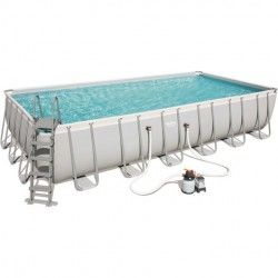 Kit Piscine Rectangulaire Power Steel Frame Pools L 732 x l 366 x H 132 cm - filtre à sable